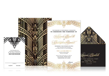 APPY COUPLE | Ceci New York Deco Divine Invitation Suite