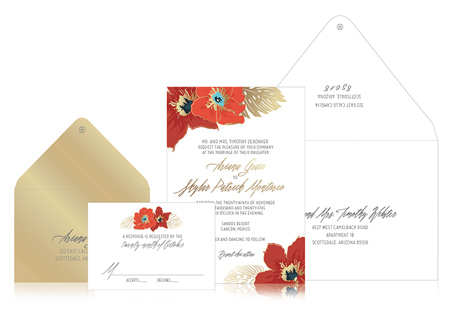 Appy Couple Ceci New York Divinely Tropic Invitation Suite