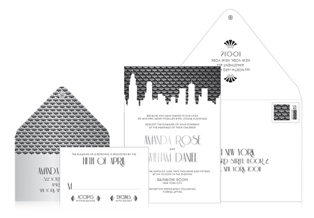 Appy Couple Ceci New York Gotham Goddess Invitation Suite