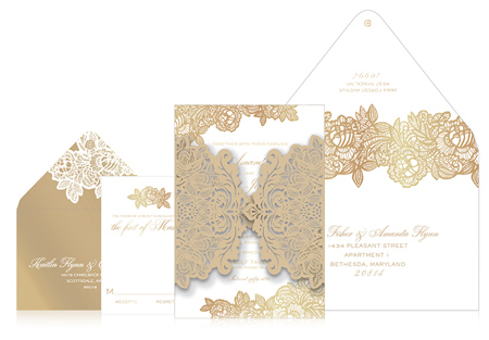 APPY COUPLE | Ceci New York Lady Lace Wedding Invitation Suite